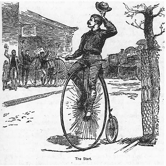 """便士法(penny-farthing)""自行车"