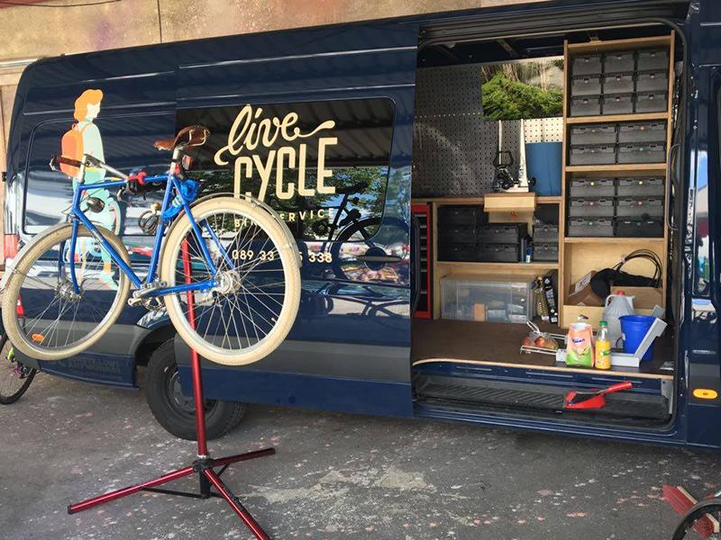 移动式自行车4S服务店,自行车维修保养,上门O2O模式,LiveCycle,德国