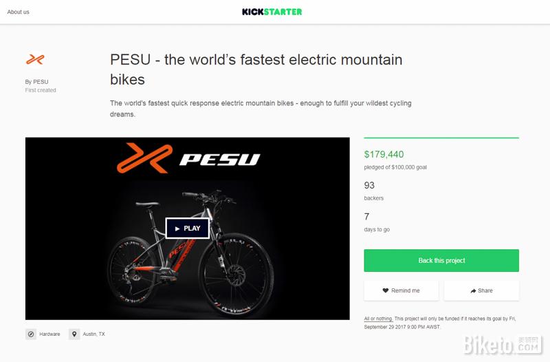 倍速出行已在美国众筹平台Kickstarter上成功众筹