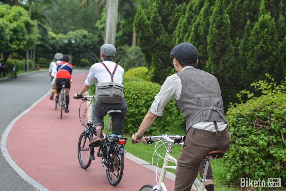 让生活回归简单 深圳首届复古骑行活动