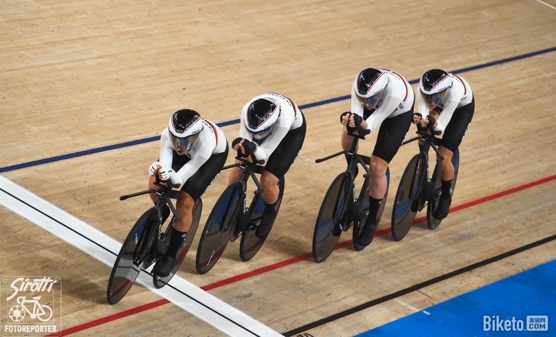 东京奥运会上打破纪录的德国场地车国家队
