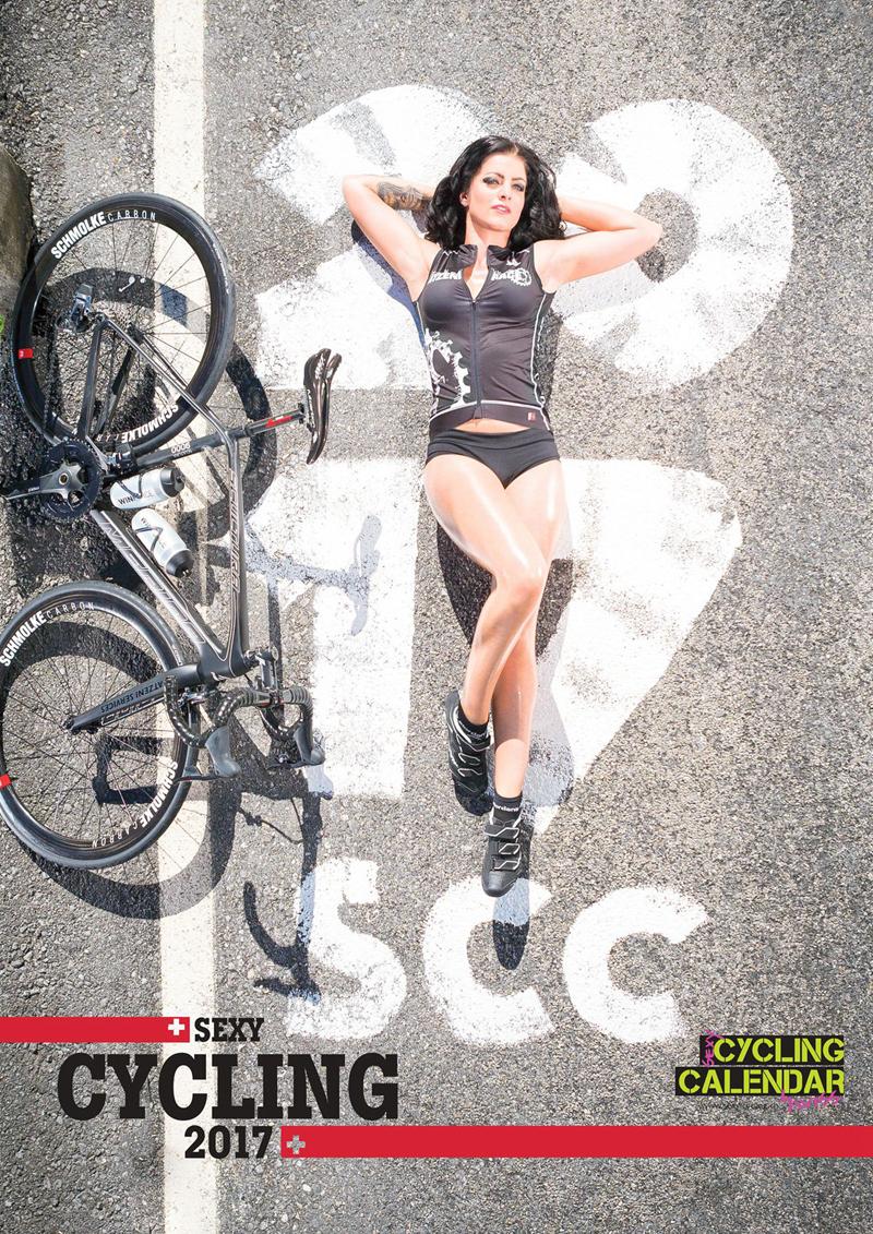 备好营养快线,来看2017单车美女写真日历