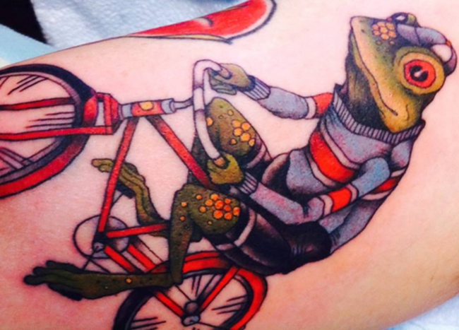 自行车纹身