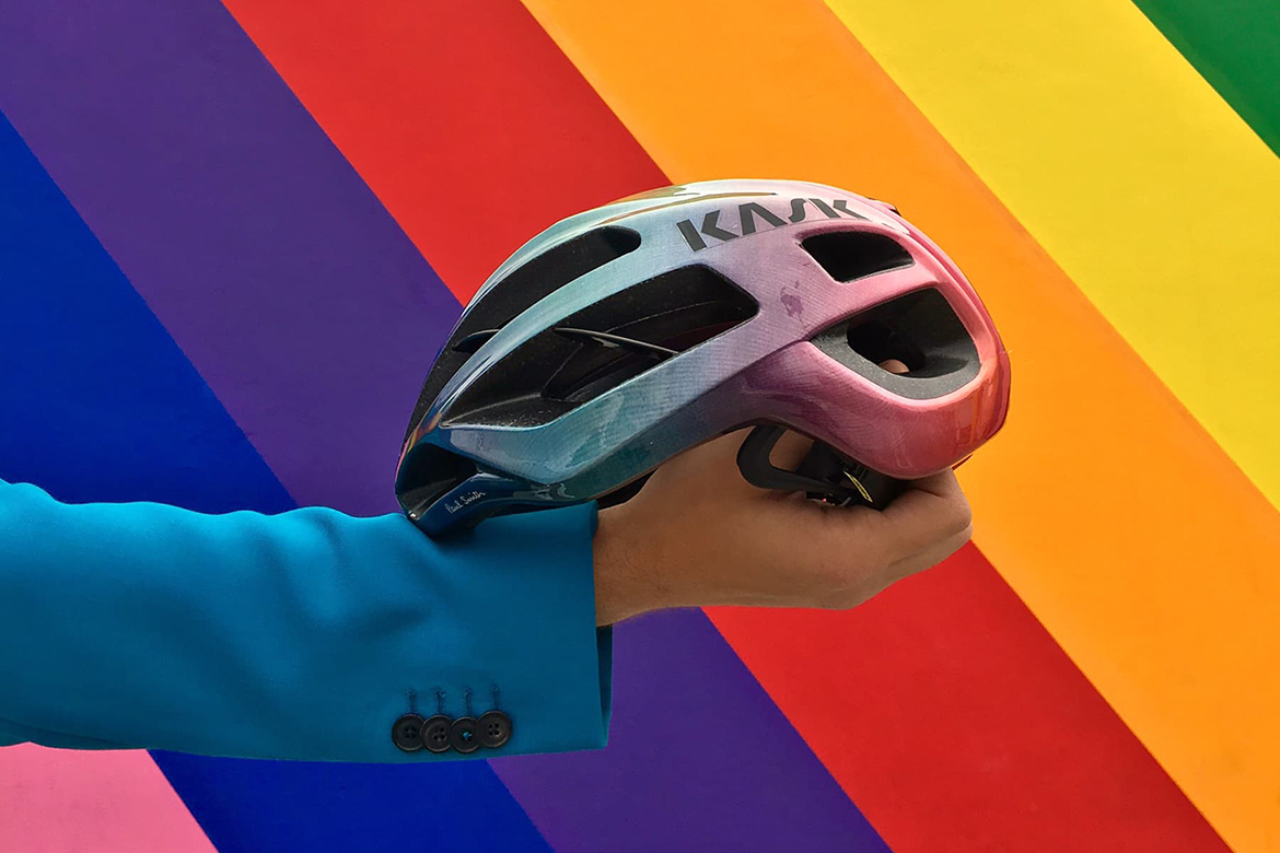 KASK x Paul Smith Blue Gradient Protone渐变蓝限量头盔大图赏