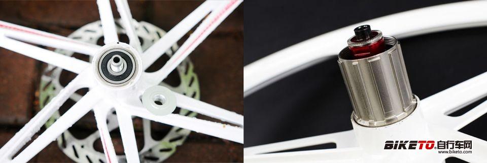 广镁镁合金一体轮406 轴心细节