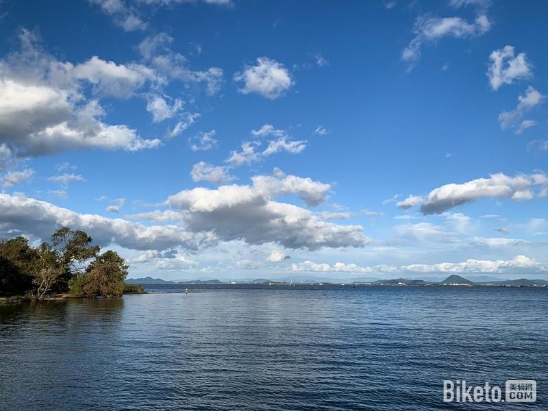 日本,自行车,琵琶湖