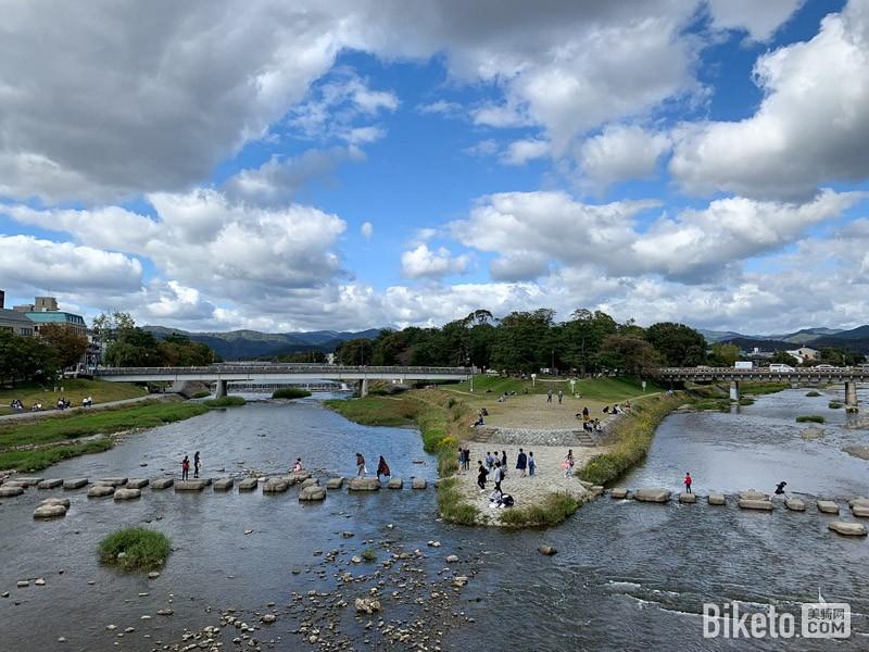 日本,自行车,京都,鸭川