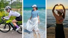 单车美女丨换下骑行服我是女孩子,跨上自行车我是女汉子