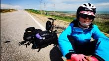 父女俩的青海环湖骑行(4)遇到长下坡,老司机也爆缸!