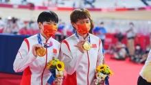 中国队场地车卫冕奥运冠军!女子团体竞速再破世界纪录!
